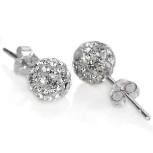 925. Silver White Swarovski Crystal 10mm Size Disco Ball