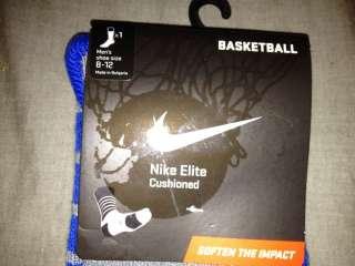 Nike Elite Cushioned Dri Fit Socks Basketball Platinum Blue Grey L 8
