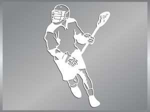 LACROSSE Player #1 cut vinyl decal car iPhone stickers