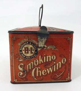 Antique Buchanan & Lyall B&L Just Suits Cut Plug Tobacco Tin Lunch Box