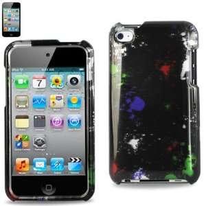 Apple IPod 4 Hard Case Designed for Men 176 black W/Splattered Paint