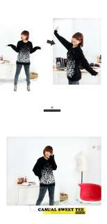 ANIMAL Graphic Sweater Hoodie ~Couple LOVE Print Character Monkey