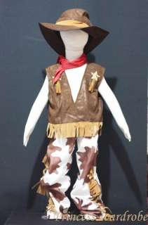 Halloween Child Boys Western Cowboy Party Costume 6 9Y