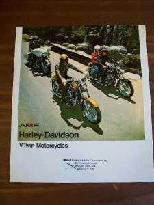 1970s Harley Davidson V Twin Brochure