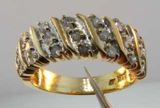 1950 Sparkling .40ctw Genuine Round Cut Diamond 14k 2 Tone Gold Band