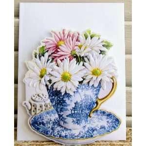 6 Carol Wilson Mailable Enclosure Cards Daisies In China
