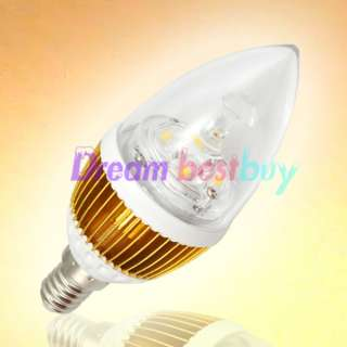 E14 Warm White High Power LED Candle Light Bulb Energy saving Lamp 8W