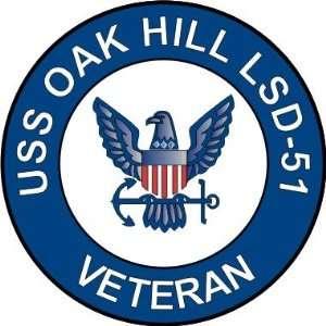 US Navy USS Oak Hill LSD 51 Ship Veteran Decal Sticker 3.8
