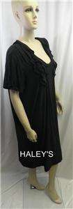 New Julian Taylor New York Plus Black Casual Dress Washable Size 24W
