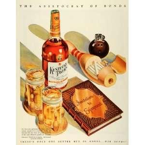 1945 Ad WWII Kentucky Tavern Whiskey Liquor Bowling Drinking