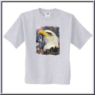Eagle USA Flag God Bless America T Shirt S,M,L,XL,2X,3X