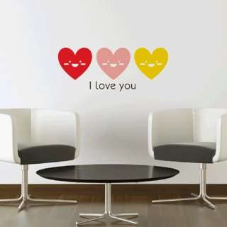 Smile set I love you WALL DECOR DECAL MURAL STICKER REMOVABLE VINYL