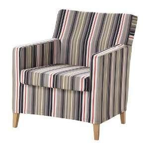 Ikea Karlstad Chair Cover Dillne Gray Beige Stripe Slipcover