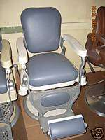 LATE 1800S KOCHS BARBER CHAIR,NEW UPHOLSTERY