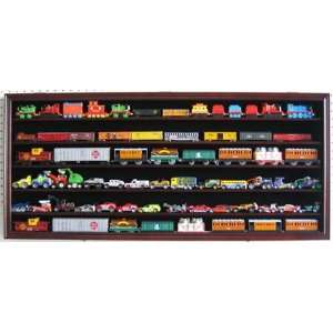 Large HO Scale Train Display Case Cabinet Wall Rack Shadow Box