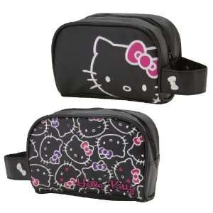 Hello Kitty Black   Cosmetic Pouch
