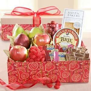 Be My Valentine Fruit Gift Box with Cheese, Crackers and Sweets