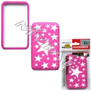 IPOD Touch(2nd Generation) Laser Cut White Stars(Hot Pink