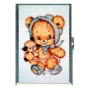 Vintage Teddy Bear Baby, Puppy ID Holder, Cigarette Case