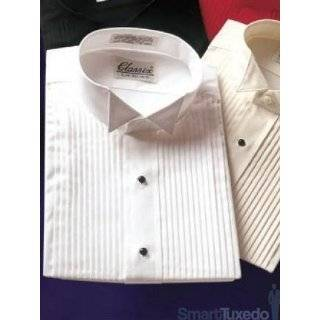 Boys Wing Collar Tuxedo Shirt   Available White, Ivory and Black