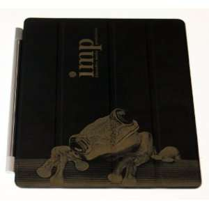 Laser Engraved Black Leather Smart Cover for Apple iPad 2 Electronics