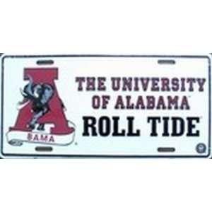 University of Alabama BAMA Roll Tide LICENSE PLATES Plate