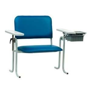 McKesson Blood Draw Chair Upholstered Seat Extra Wide With Drawer Blue