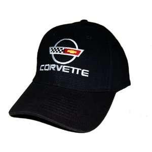 Corvette C4 Cotton Twill Black Hat Cap
