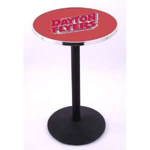University of Dayton Flyers Pub Table With Chrome Edge