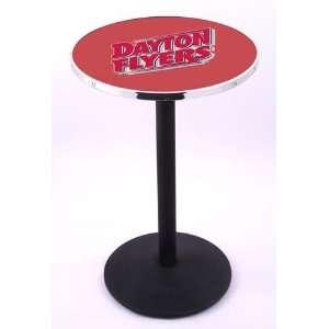 University of Dayton Flyers Pub Table With Chrome Edge