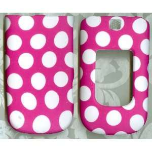 Nokia 6350 AT&T 3G rubberized phone cover case pink white dot
