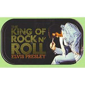 Elvis Presley King of Rock N Roll Magnetic Tin Sign
