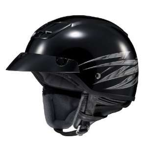HJC Kawasaki Vulcan 2 MC 5 Open Face Motorcycle Helmet Black/Silver