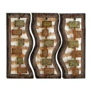 Contemporary Metal Capiz Wall Hanging Decor