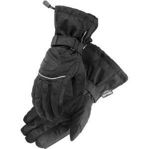 Mens Textile Street Bike Racing Motorcycle Gloves   Black / Small