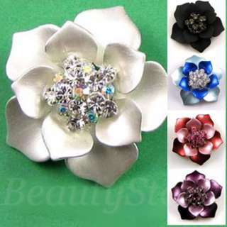 ADDL Item  1pc Austrian rhinestone flower brooch pin
