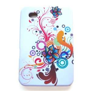 Silicone Skin Case Colorful Flowers Design for Samsung Galaxy Tab