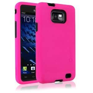 Elite Snap Case for Samsung Galaxy S II AT&T/i777   Black/Hot Pink