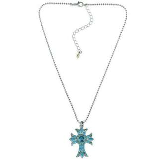 New Kirks Folly Easter Heavens Hope Cross Necklace Turq