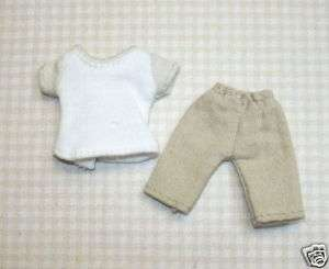 Wearable Girls Tan Slacks/White Shirt DOLLHOUSE Minis