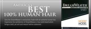 Model Model DreamWeaver 100% Human Hair Invisible Part Closure