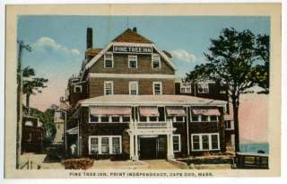 Postcard~Pine Tree Inn, Point Independence, Cape Cod