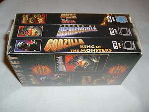 King of the Monsters / Godzilla Trailers / Mechagodz (3 VHS SET)   NEW