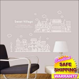 Sweet Village Vinyl Wall Stickers Home Decals Mural