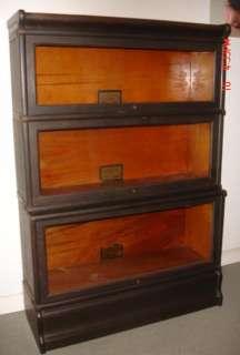 Stack Quartersawn Oak Barrister Stepback Bookcase Roll Cap/Base
