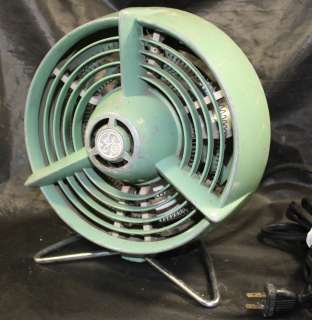 1940s GE Cast Aluminum FH1H1 Space Heater Fan Works Well