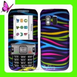 STRAIGHT TALK Hard Case Cover 4 Samsung R451C 451 ZEBRA