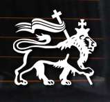 Lion of Judah Vinyl Car Decal, 4x4 Wall Sticker Reggae