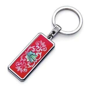 Mother of Pearl Red Arabesque Flower Design Handmade Craft