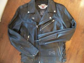 Rare Harley Davidson medium heavy leather jacket coat custom limited